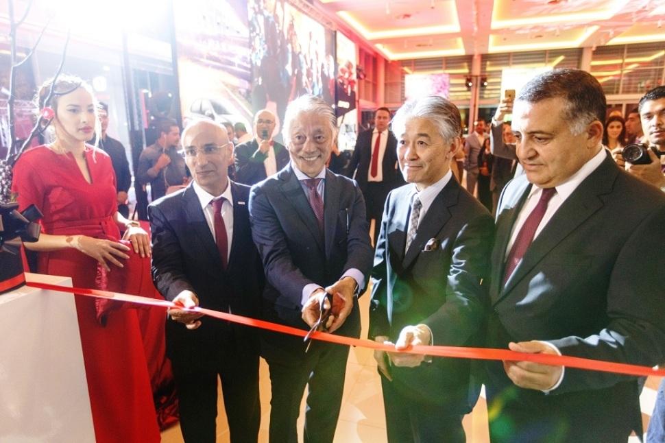 Inauguration officielle en présence du président de HBG, du DG de JMC, de l'ambassadeur du Japon en Tunisie ainsi que d'un haut représentant de Honda.