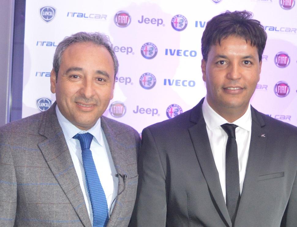Kaïs Krima, directeur général d'Italcar, et Karim Masmoudi,propriétaire de l'agence Euro Car (à dr.).