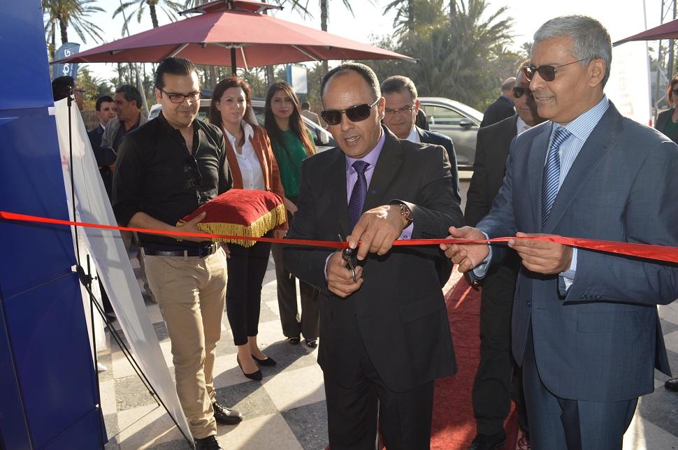 Le PDG de Zouari Group et le gouverneur de Gabès à l'inauguration.